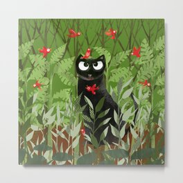 Big Beetholomew With Red 'Lil Birds Metal Print