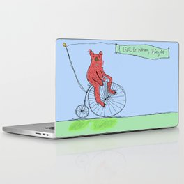 I Like To Ride My Bicycle Laptop & iPad Skin