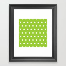 Swiss cross pattern on yellow green Framed Art Print