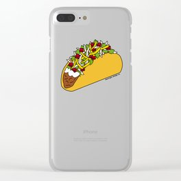 Because Tacos Clear iPhone Case
