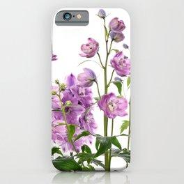 Purple delphinium flowers iPhone Case
