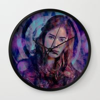 amy pond Wall Clocks featuring Amy Pond by Sirenphotos