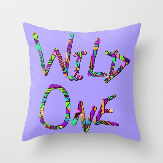 Wild One Three Throw Pillow