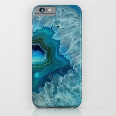 Teal Druzy Agate Quartz iPhone 6s Slim Case