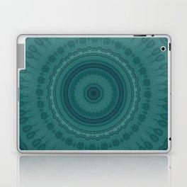 Dark Teal Pattern Mandala Laptop & iPad Skin