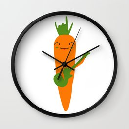 ROCK AND ROLL CARROT Wall Clock