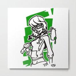 Roller Girl Metal Print