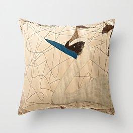 Crown Swan Throw Pillow