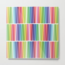 Fig. 047 Rainbow Geometric Keyboards Metal Print