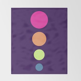Four Dots 10 Throw Blanket