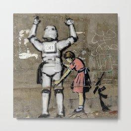 Girl and clone Metal Print
