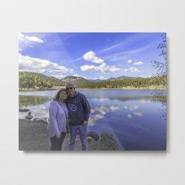 David and Barbara at Evergreen Lake Metal Print