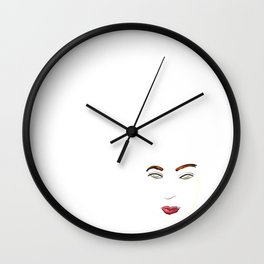 Female Face - artwork Wall Clock