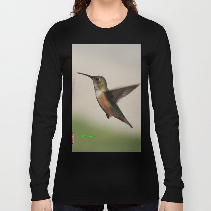 Ms. Hummingbird Checks the Feeder Long Sleeve T-shirt