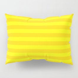 Bright , yellow , striped Pillow Sham