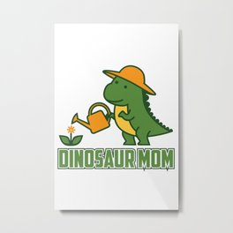 dinosaur mom Metal Print