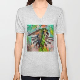 Stop! Who Goes There? Unisex V-Neck