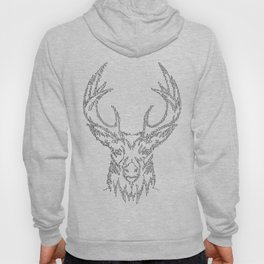 Stags head in one continuous line Hoody