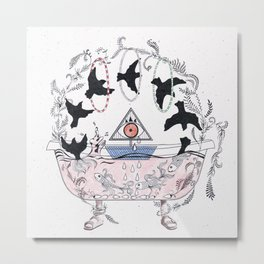 Psychic bathtub. Metal Print