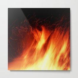 Flames Series 1 Metal Print
