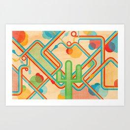 Cactus Dreams Art Print