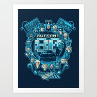 80s Art Prints featuring AWESOME 80s by Letter_q