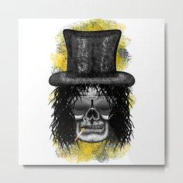 Slash style ErrorFace Skull Metal Print
