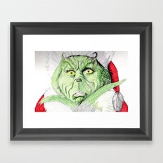 Grinch Framed Art Print