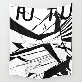 History of Art in Black and White. Futurism Wall Tapestry