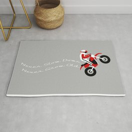 Never Slow Down Rug