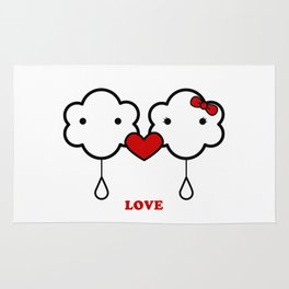 Clouds in love Rug