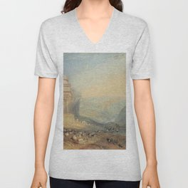 "J.M.W. Turner ""The Valley of the Brook at Kidron, Jerusalem (Absalom's Tomb)"" Unisex V-Neck"