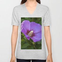 Pink Floral Impression Unisex V-Neck