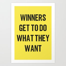 WINNERS Art Print