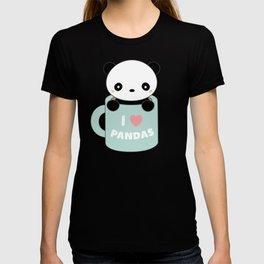 Kawaii I Love Pandas T-shirt