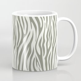 Green Tiger Print Coffee Mug