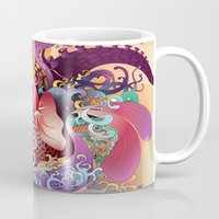 koi Mugs featuring Koi by Nick La