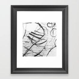 wild black strokes Framed Art Print