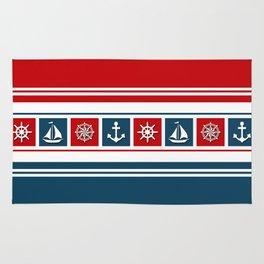 Nautical symbols Rug