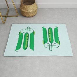 Vegetable: Snap pea Rug