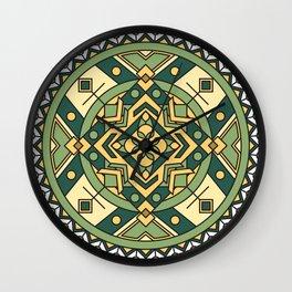 Contentment Mandala Wall Clock
