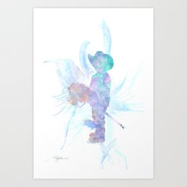 10837 The Cowboy Art Print
