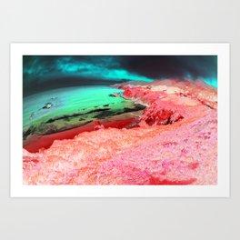 Distorted Hilltops #1 Art Print