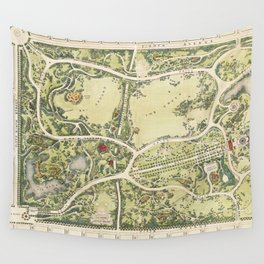 Strolling through history Wall Tapestry