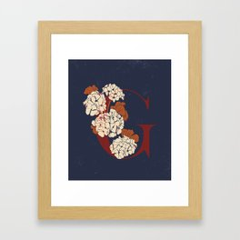 Letter G for Geranium Framed Art Print
