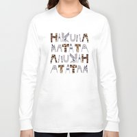 hakuna Long Sleeve T-shirts featuring ANUKAH Atatam (two)  by Vasare Nar