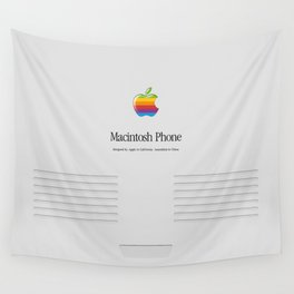 Macintosh phone Gray edition Wall Tapestry