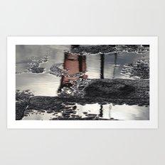 Grey Reflection Art Print