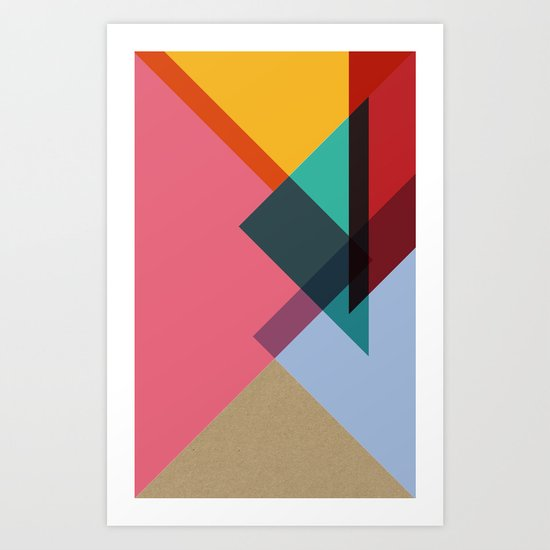 Triangles (Part 2) Art Print