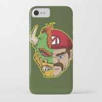 mario kart iPhone & iPod Cases featuring Mario Chimera by The Cracked Dispensary